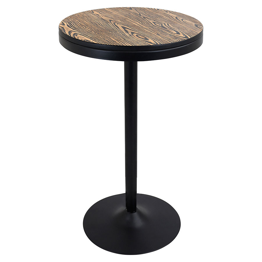 modern bar tables  dante adjustable bar table  eurway - dante black metal  distressed wood modern industrial bar  dinette table