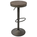 Dante Antique-Finished Modern Adjustable Stool