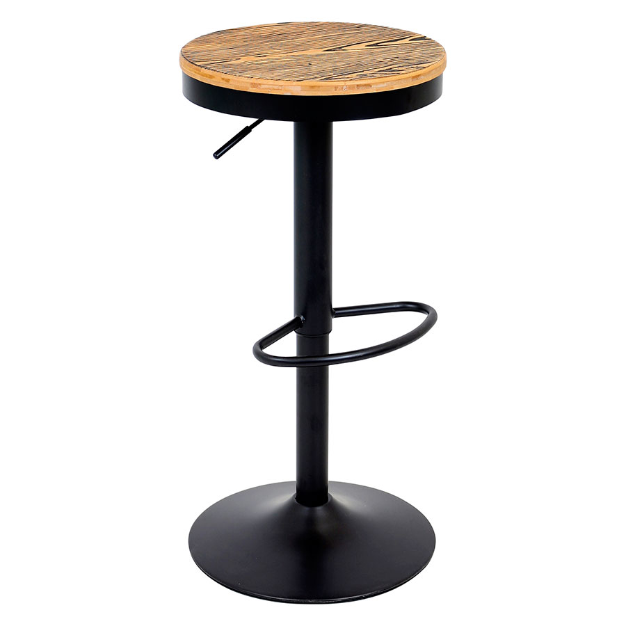 Dante Black Modern Adjustable Stool