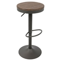 Dante Gray Modern Adjustable Stool