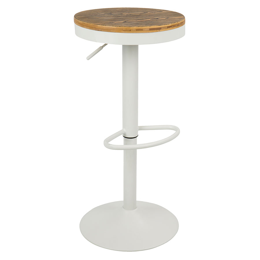 Dante White Modern Adjustable Stool