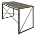 Dante Modern Industrial Wood + Metal Desk - Back View