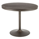 Dante Antique Metal + Espresso Dining Table