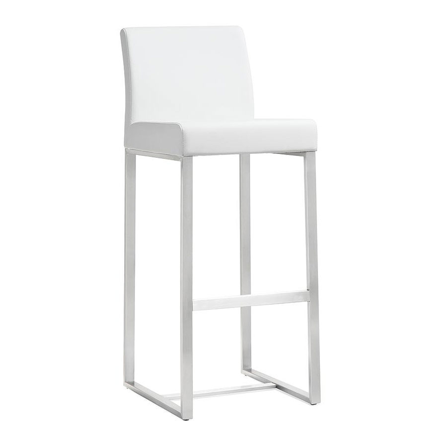 modern stools  danube white counter stool  eurway - danube modern white counter height stool