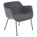 Daphne Modern Dark Gray Arm Chair by Euro Style