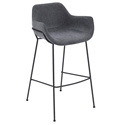Daphne Modern Dark Gray Bar Stool by Euro Style