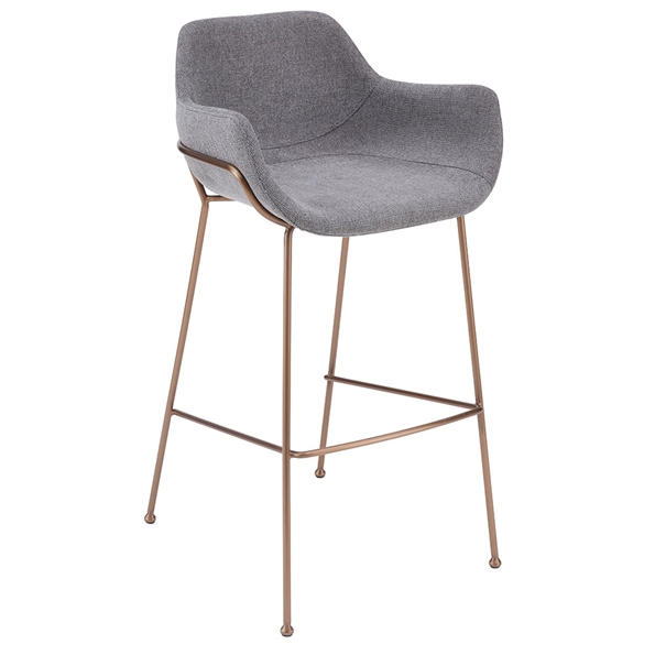 Daphne Modern Light Gray Bar Stool by Euro Style