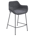 Daphne Modern Dark Gray Counter Stool by Euro Style