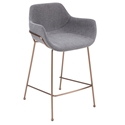 Daphne Modern Light Gray Counter Stool by Euro Style