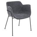Daphne Modern Dark Gray Dining Chair by Euro Style