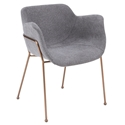 Daphne Modern Light Gray Dining Chair by Euro Style