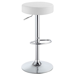 Darius Modern White Adjustable Stool