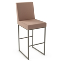 Darlene Modern Bar Stool by Amisco in Titanium + Valentine