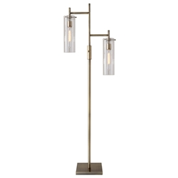 Dartmouth Modern Brass Floor Lamp