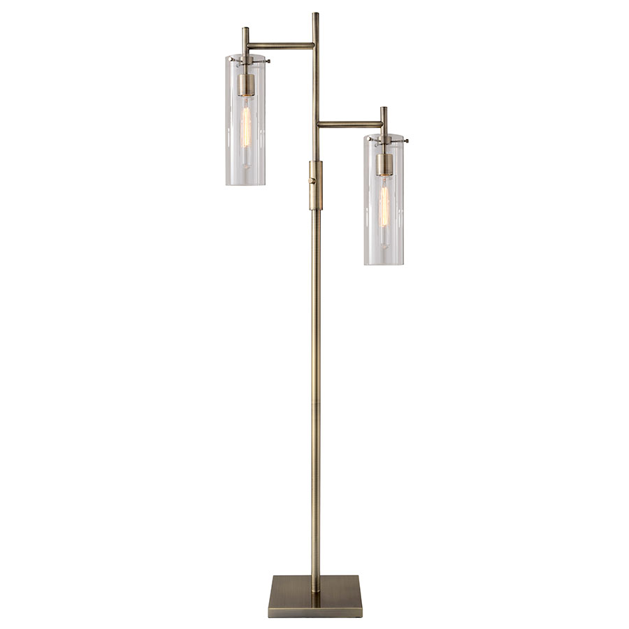 Modern floor lamps dartmouth floor lamp eurway modern for Chunky brass floor lamp