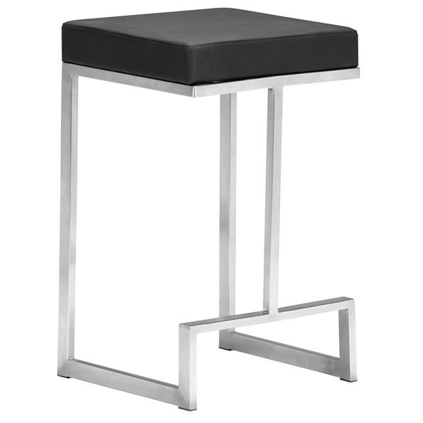 Darwen Modern Black Counter Height Stool by Zuo