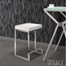 Darwen Contemporary White Counter Height Stool by Zuo