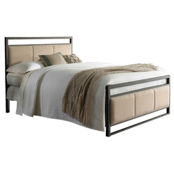 Dauphine Modern Metal + Upholstered Bed