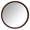 "Distrikt 24"" Round Smoked Oak Modern Wall Mirror"