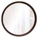 "Dauterive 24"" Round Smoked Oak Modern Wall Mirror"