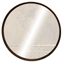 "Dauterive 40"" Round Smoked Oak Modern Wall Mirror"