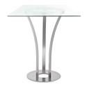Dalia Clear Glass + Metal Modern Bar Height Table by Amisco