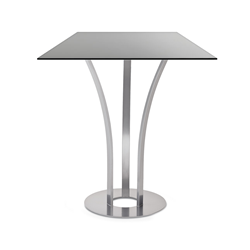 Davai Black Glass + Metal Modern Counter Height Table