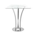 Dalia Clear Glass + Metal Modern Counter Height Table by Amisco