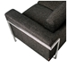 Gus Modern Davenport Bi-Sectional in Urban Tweed Truffle