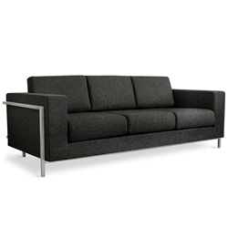 Davenport Modern Sofa in Urban Tweed Truffle Fabric
