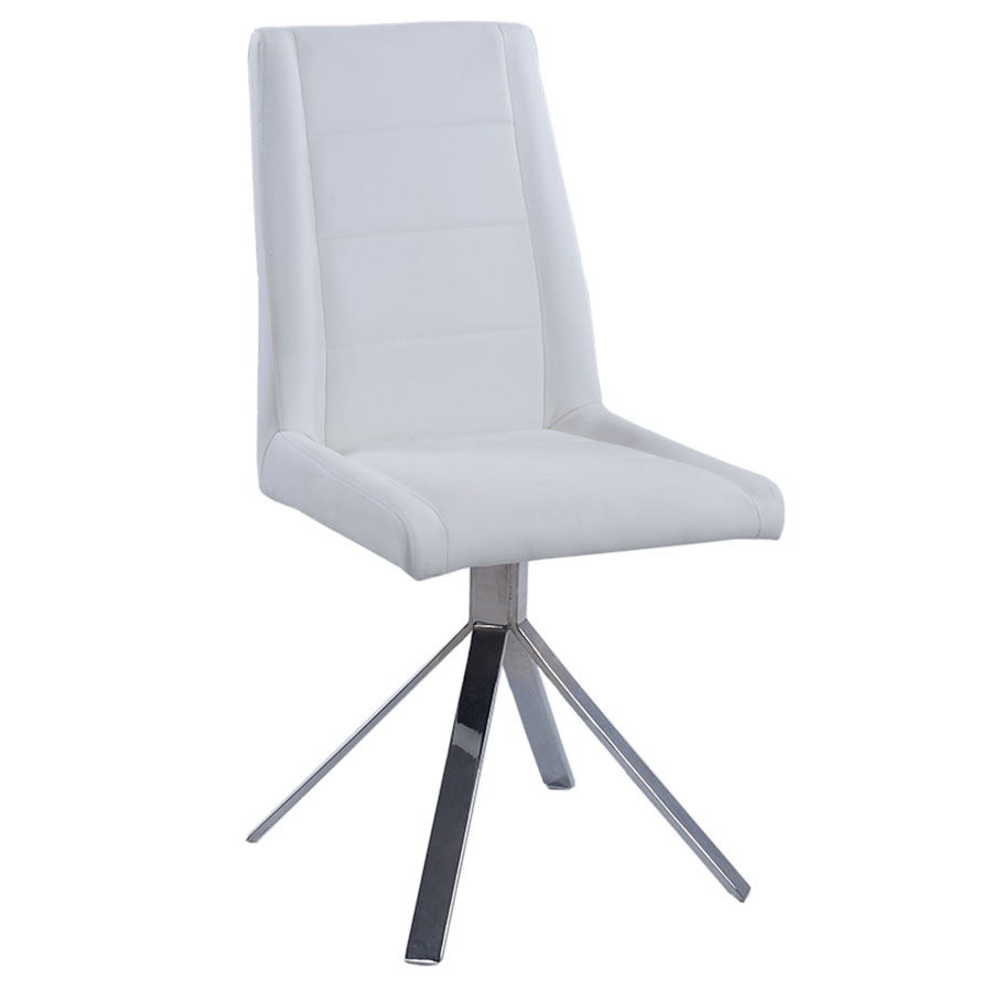 Davey White Modern Dining Chair