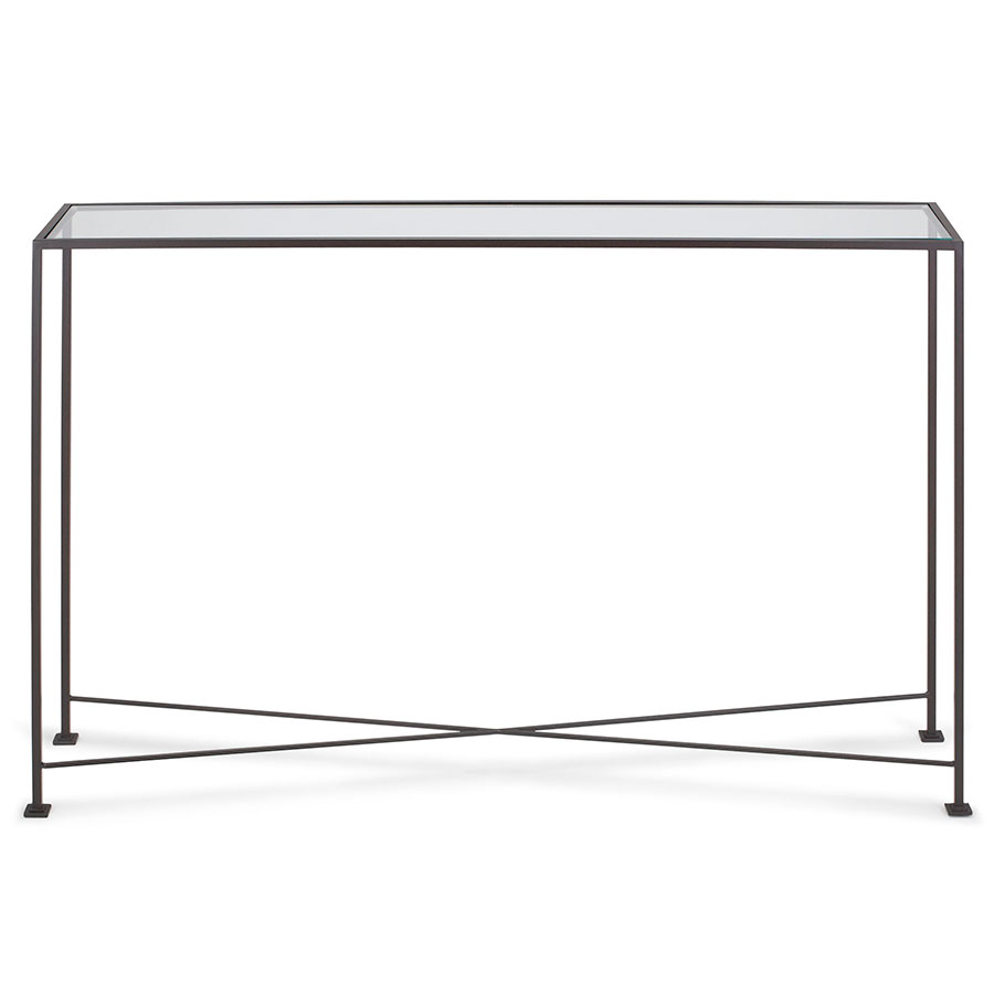 David modern 40x8 glass console table eurway david 40x8 modern console table geotapseo Image collections