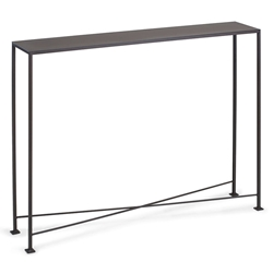 David Modern 40x8 Metal Top Console Table