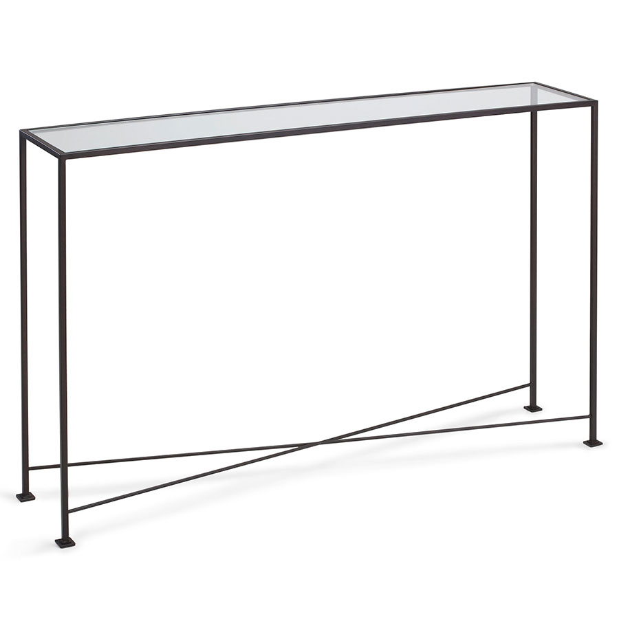 David Modern 48x10 Glass Console Table Eurway