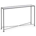 David Modern 48x10 Glass Top Console Table