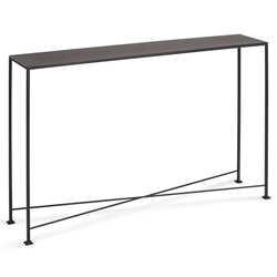 David Modern 48x10 Metal Top Console Table