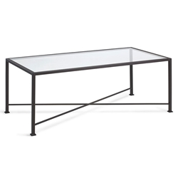 David Modern Glass Top Coffee Table