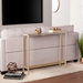 Davidson Gold + Mirrored Modern Console Table
