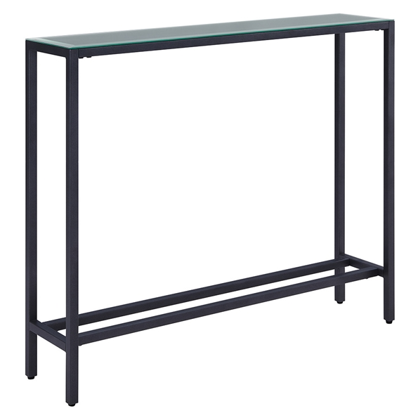 Davidson Gun Metal + Mirrored Console Table