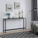 Davidson Long Black Contemporary Mirrored Console Table