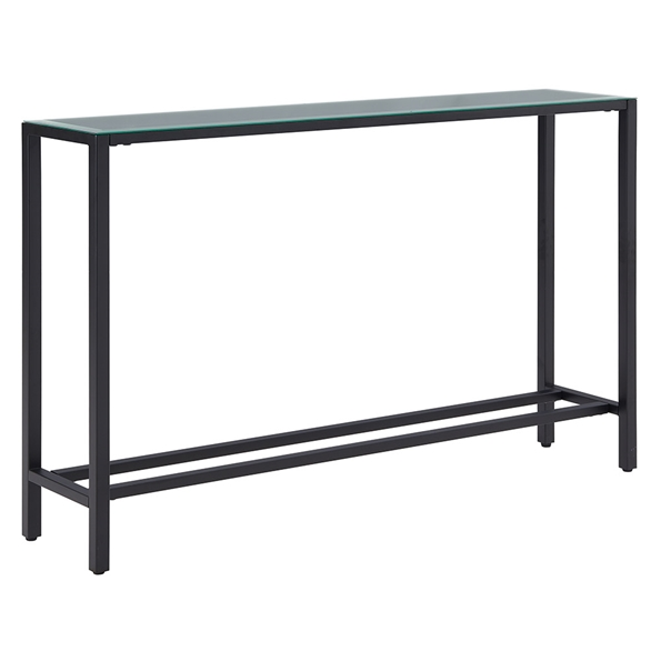 Davidson Long Black + Mirrored Console Table