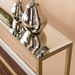 Davidson Long Gold + Mirrored Console Table - Top Detail