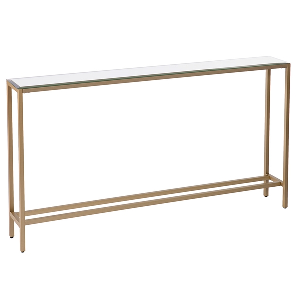 Davidson Long Gold + Mirrored Console Table