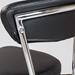 Davis Black Modern Bar Stool - Backrest Detail