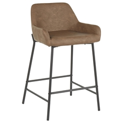Davis Modern Brown + Black Counter Stool