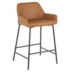 Davis Modern Camel + Black Counter Stool