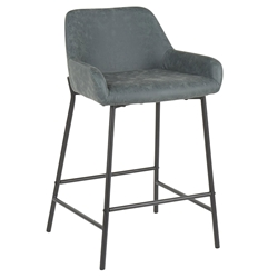 Davis Modern Green + Black Counter Stool