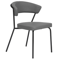 Draco Modern Dining Chair in Gray + Black