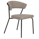 Draco Modern Dining Chair in Taupe + Black