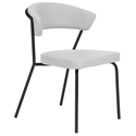 Draco Modern Dining Chair in White + Black